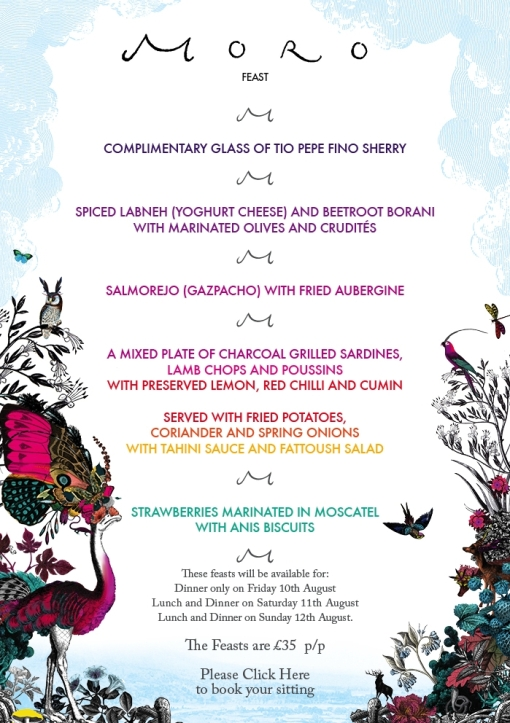 2012 Wilderness Feast Menu